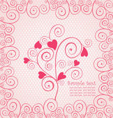 Beautiful pink lace — Stock Vector
