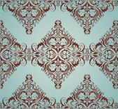 Damask ornate wallpaper — Stock Vector