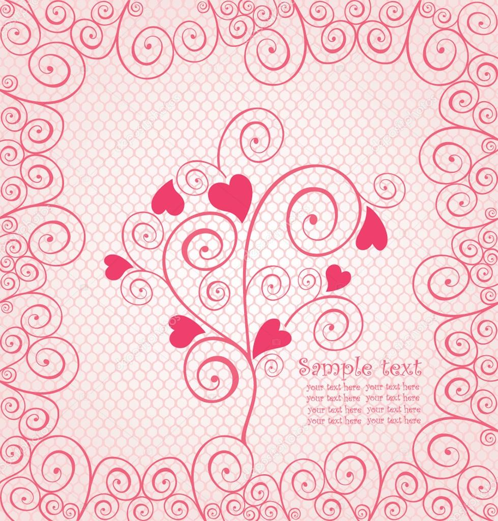 Beautiful pink lace — Stock Vector #19469079