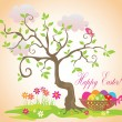 Royalty-Free Stock Vectorielle: Funny easter card