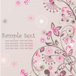 Greeting floral banner — Stock Vector