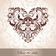 Royalty-Free Stock Vector Image: Vintage floral heart shape