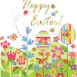 Stock Vector: Easter postcard