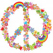 Peace flower symbol — Stock Vector