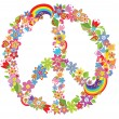 Stock Vector: Peace flower symbol