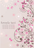 Gruß floral banner — Stockvektor