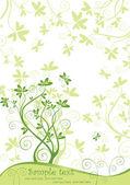 Wiosna zielony sztandar — Wektor stockowy