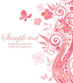 Beautiful pink border — Stock Vector