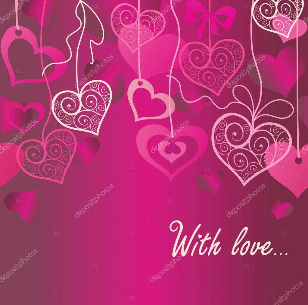 Seamless Valentine background — Stock Vector #19472573