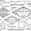 Vintage wedding design elements — Stock Vector