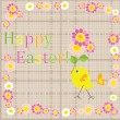 Funny easter card - Image vectorielle