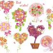 Royalty-Free Stock Vector Image: Greeting bouquets