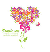 Greeting card with funny bouquet — Stock Vector