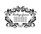 Vintage black frame — Stock Vector