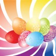 Stock Vector: Colorful easter eggs