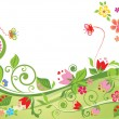 Floral summer background - Stock Vector