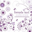 Greeting violet card - Stock Vector