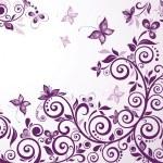 Vintage floral violet card — Stock Vector #19555105