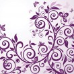 Violet vintage floral card — Stock Vector #19555357