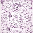 Violet wedding stencil — Stockvectorbeeld