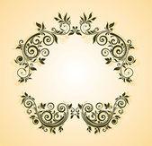 Floral header — Stock Vector