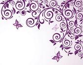 Cartão floral violet — Vetor de Stock