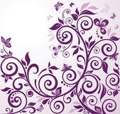 Violet vintage floral card — Stock Vector