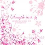 Vintage pink floral card — Stock Vector