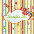 Colorful stripped label - Stock Vector