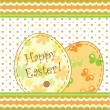 Easter decorative card — Vector de stock