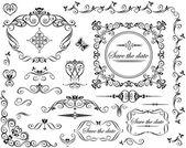 Design retrò sposa — Vettoriale Stock