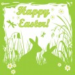 Green easter card — Stock Vector