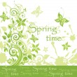 Stock Vector: Spring card
