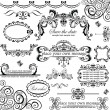 Vector de stock : Wedding design. Set.