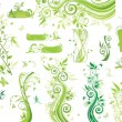 Green floral borders - Stock Vector
