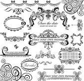 Bruiloft ontwerp. instellen. — Stockvector