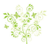 Beautiful green tree — Stock Vector