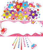 Funny greeting bouquet — Stock Vector