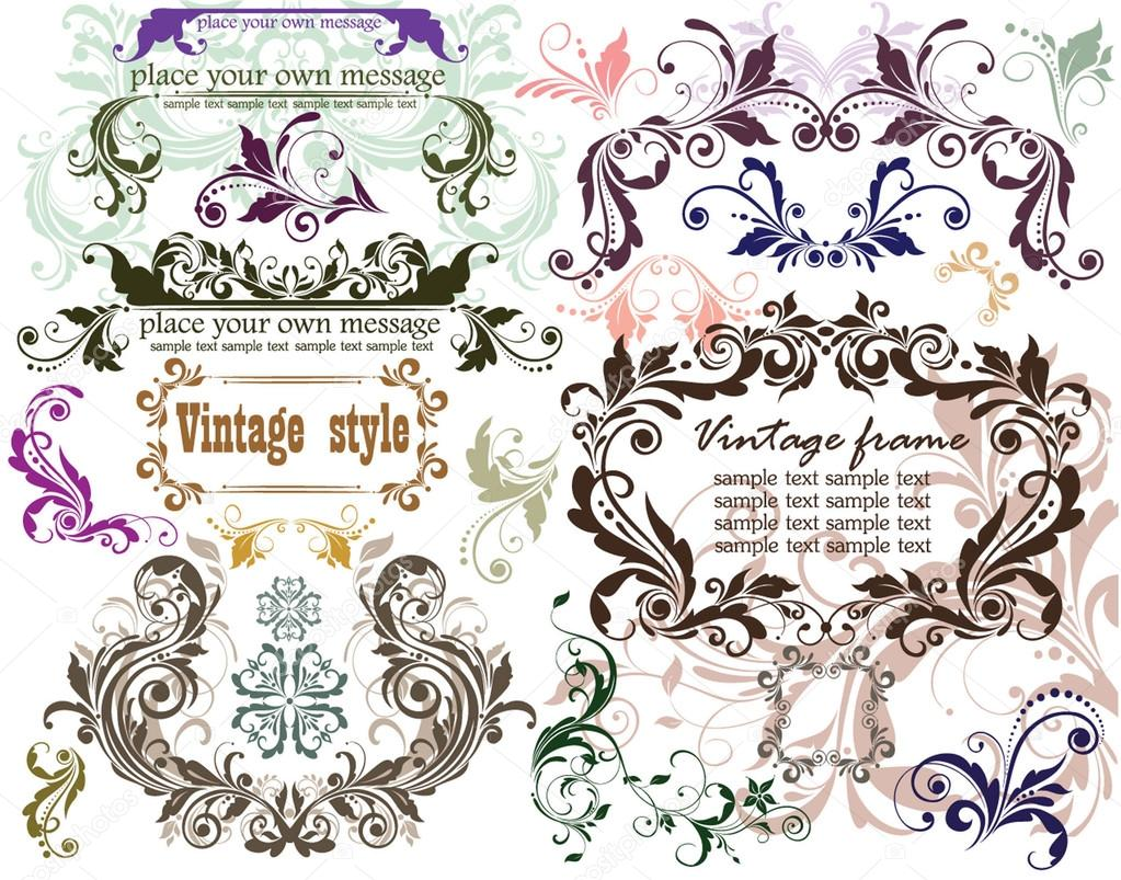 Vintage design elements — Stock Vector #19573059