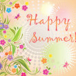 Summer card — Image vectorielle