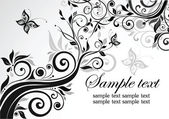 Floral template — Stock Vector