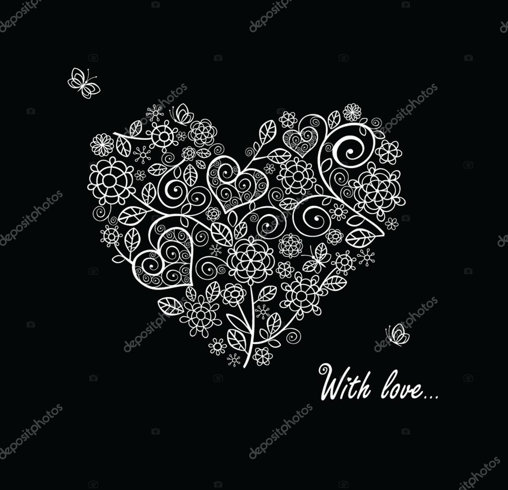 Vintage heart — Stock Vector #19581035