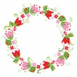 Flower wreath — Stock Vector