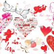 Stock Vector: Valentine set