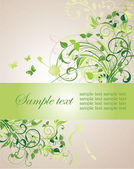 Vintage floral banner — Stock Vector