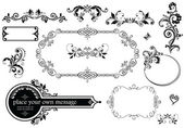 Vintage wedding decoration — Stock Vector