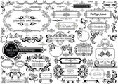 Vintage headers and frames — Stock Vector