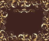 Gold floral background — Stock Vector