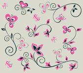 Floral design elements — Stock Vector