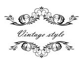 Vintage header — Stock Vector